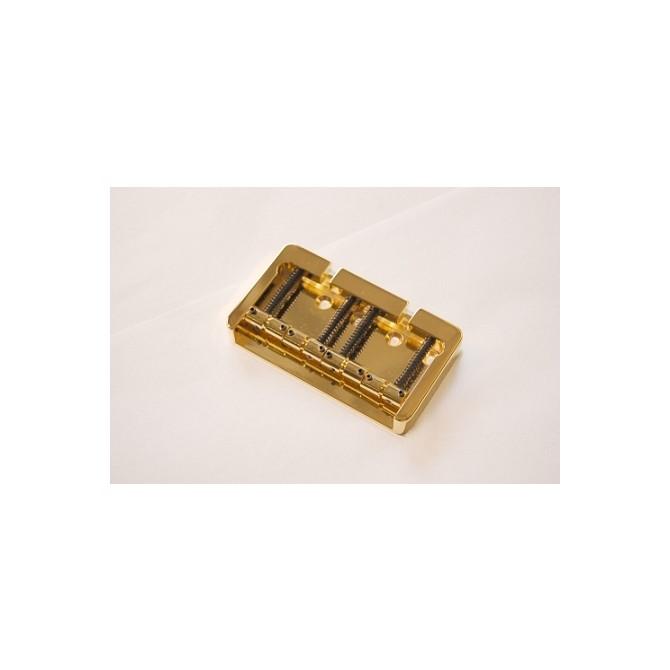 Hipshot BStyle 4String FenderMount1 .750 Bass Bridge Brass Gold 19mm Spacing