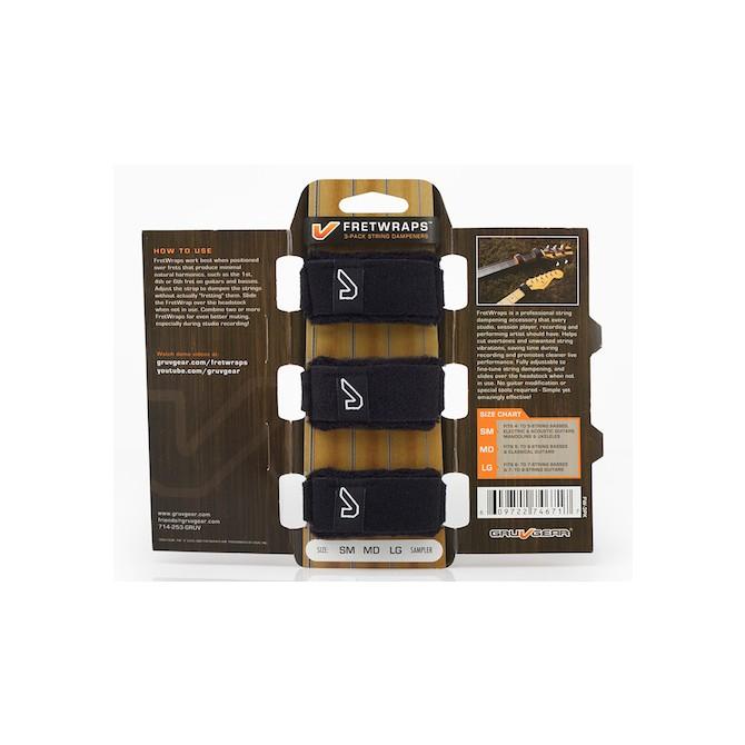 GruvGear FretWraps Black 3-Pack Sampler (Discontinued by Supplier)