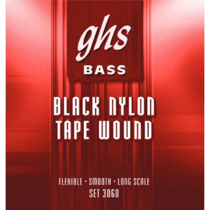 DISCONTINUED BY MANUFACTURER GHS 3060 Black Nylon Tapewound 4 String Medium (50 - 70 - 90 - 105) Long Scale