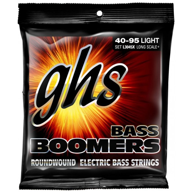 GHS L3045 Bass Boomers 4 String Light (40 - 55 - 75 - 95) Long Scale