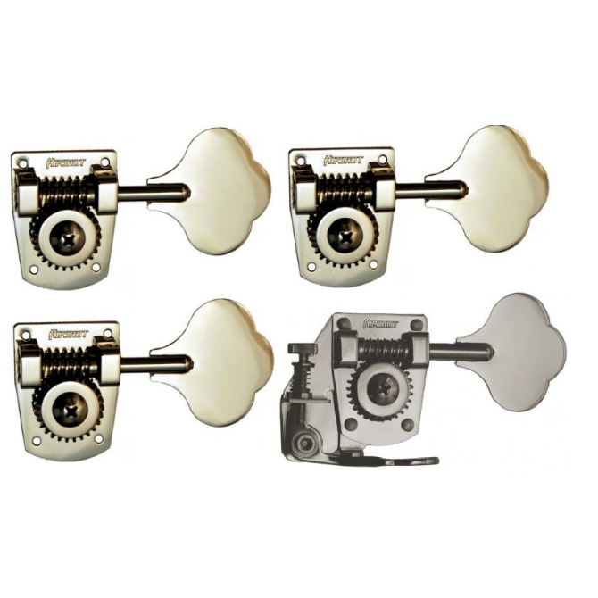 4-String HB7 & BT7 Tuner/De-tuner Bass Side Nickel Set