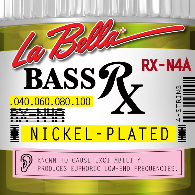 Labella RX-N4A RX Nickel Plated Roundwound 4 String Light (40 - 60 - 80 - 100) Long Scale