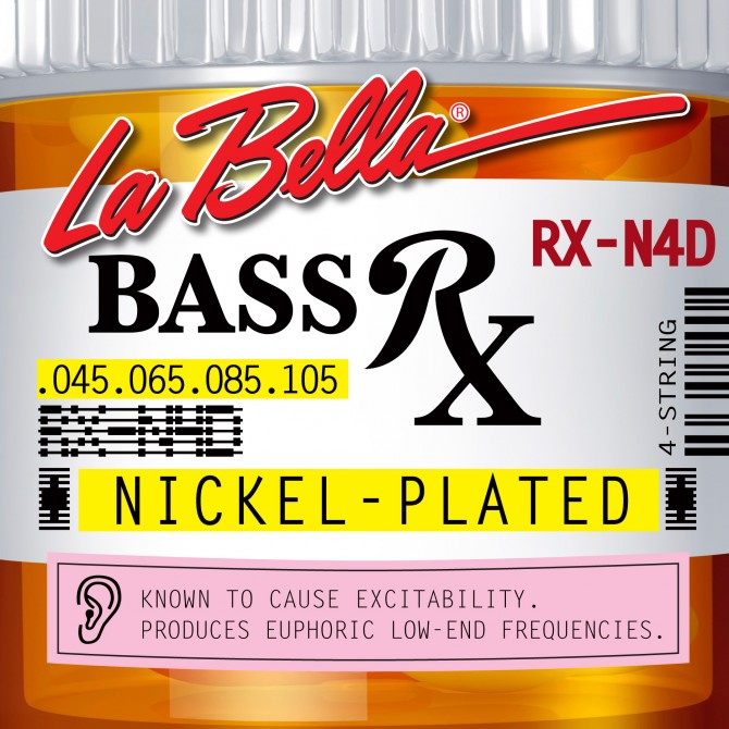 Labella RX-N4D RX Nickel Plated Roundwound 4 String Medium (45 - 65 - 85 - 105) Long Scale