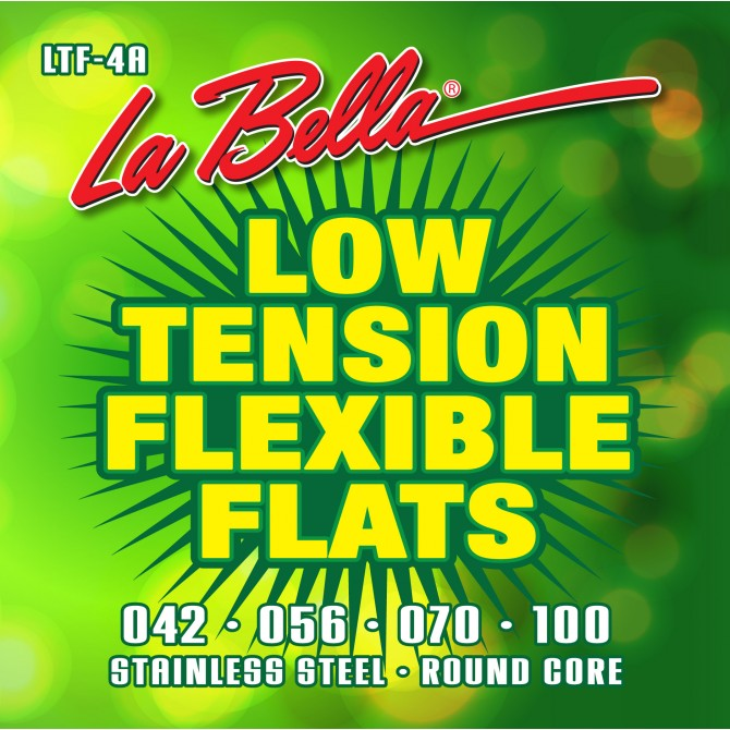 Labella LTF-4A Low Tension Flexible Flats 4 String (42 - 56 - 70 - 100) Long Scale