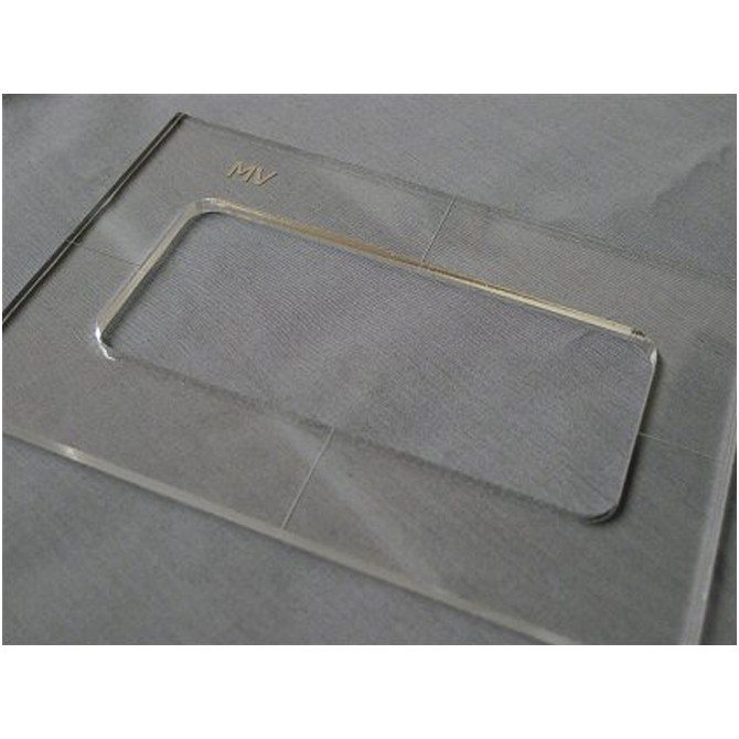 """Nordstrand 3/16"""" Thick Acrylic MV(Ernie Ball MM) Size Template"""