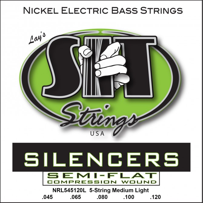 SIT NRL5-45120L Silencers Nickel 5 String Light (45 - 65 - 80 - 100 - 120) Long Scale