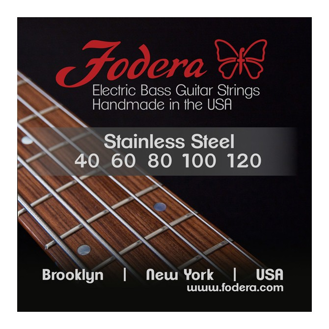 Fodera 40120S Stainless Steel 5 String Light (40 - 60 - 80 - 100 - 120) Long Scale