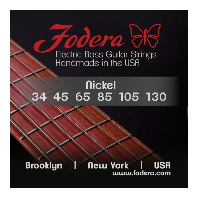 Fodera 34130N-XL Nickel 6 String Medium (34 - 45 - 65 - 85 - 105 - 130) Extra Long Scale