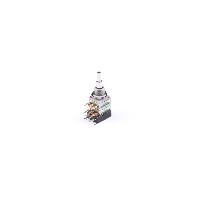 NOLL 250k Volume/Volume Potentiometer Linear Taper Stacked Push/Pull 4/6mm Solid Shaft