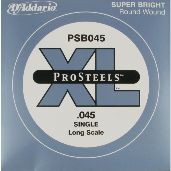 Daddario PSB045 ProSteels Single String 45 Gauge Long Scale