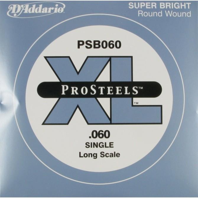Daddario PSB060 ProSteels Single String 60 Gauge Long Scale
