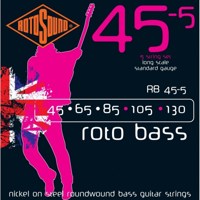 RotoSound RB45-5 Roto Bass 5 String Standard (45 - 65 - 85 - 105 - 130) Long Scale