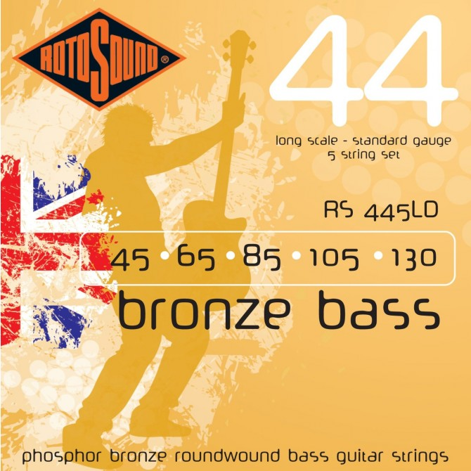 RotoSound RS445LD Bronze Bass 44 5 String Standard (45 - 65 - 85 - 105 - 130) Long Scale