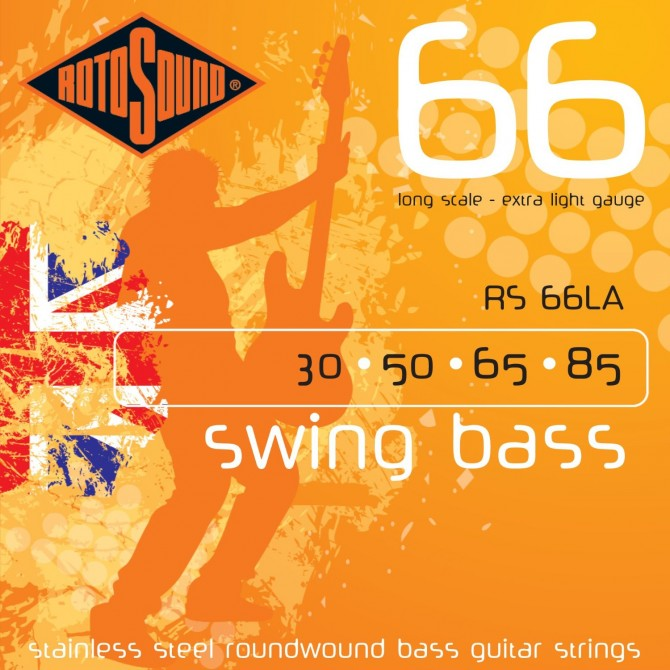 Rotosound RS66LA Swing Bass 66 Stainless 4 String Extra Light (30 - 50 - 65 - 85) Long Scale