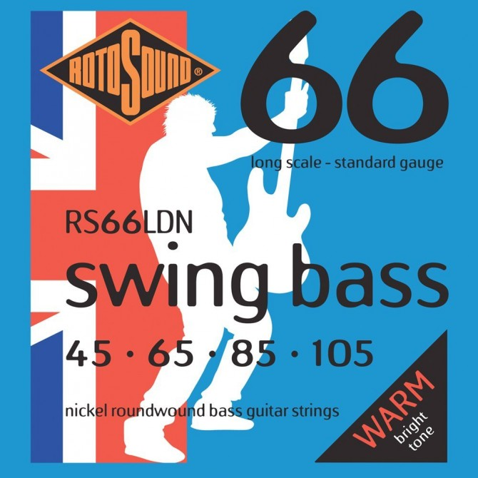 Rotosound RS66LDN Swing Bass 66 Nickel 4 String Standard (45 - 65 - 85 - 105) Long Scale