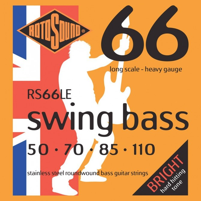 Rotosound RS66LE Swing Bass 66 4 String Heavy (50 - 70 - 85 - 110) Long Scale