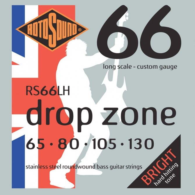 Rotosound RS66LH Swing Bass 66 Stainless 4 String Drop Zone (65 - 80 - 105 - 130) Long Scale