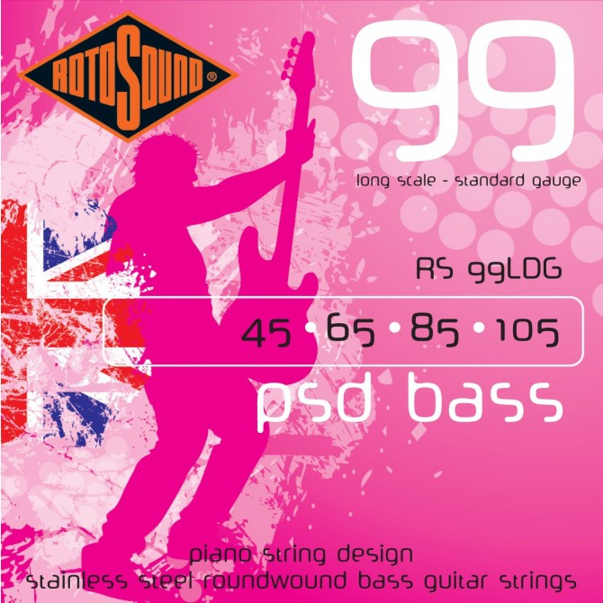 Rotosound RS99LDG PSD Bass 99 4 String Standard (45 - 65 - 85 - 105) Long Scale