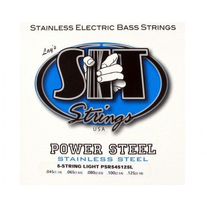 SIT PSR5-45125L Power Steel Stainless 5 String Light (45 - 65 - 80 - 100 - 125) Long Scale