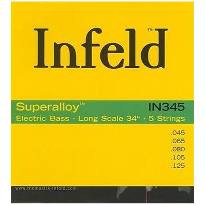Thomastik-Infeld IN345 Superalloy Round Wound 5 String Medium Light (45 - 65 - 80 - 105 - 125) Long Scale