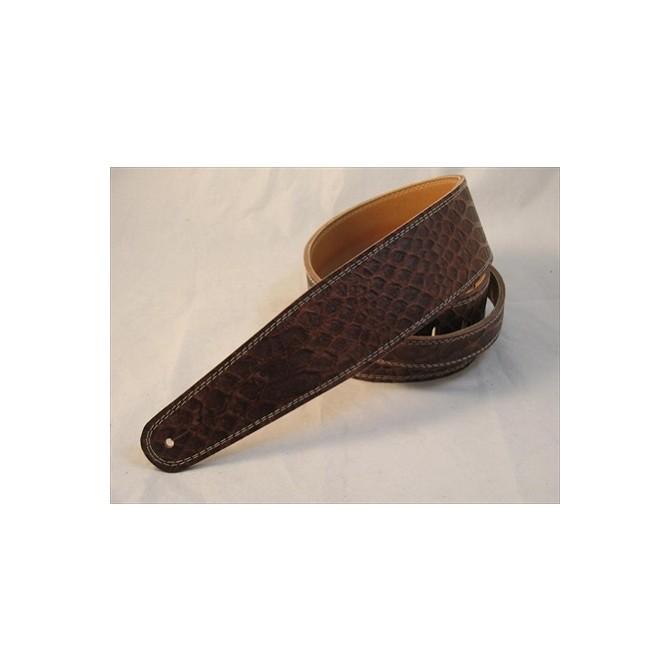 Pete Schmidt Ultra Series Brown Croc Bass Guitar Strap