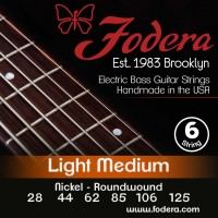 Fodera 28125N Nickel 6 String Light Medium (28 - 44 - 62 - 85 - 106 - 125) Long Scale