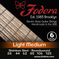Fodera 28125S Stainless Steel 6 String Light Medium (28 - 44 - 62 - 85 - 105 - 125) Long Scale