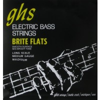 GHS M3075-5 Bass Brite Flats 5 String Medium (49 - 62 - 84 - 108 - 129) Long Scale