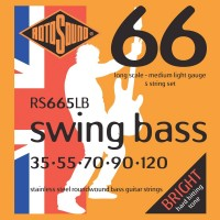 RotoSound RS665LB Swing Bass 66 Stainless 5 String Medium Light (35 - 55 - 70 - 90 - 120) Long Scale