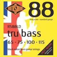 Rotosound RS88LD Tru Bass 88 Black Nylon Tapewound 4 String Standard (65 - 75 - 100 - 115) Long Scale
