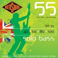 RotoSound SM55 Solo Bass 55 4 String Hybrid (40 - 60 - 80 - 100) Long Scale