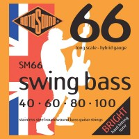 RotoSound SM66 Swing Bass 66 Stainless 4 String Hybrid (40 - 60 - 80 - 100) Long Scale
