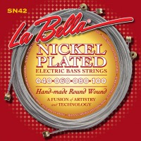 Labella SN42 Nickel Plated Roundwound 4 String Custom Light (40 - 60 - 80 - 100) Long Scale