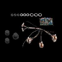 Seymour Duncan STC-2ASB 2-Pickup 3-Knob 2-Band Vol P/P Slap Sw - Bl - Treb/Bass Stack