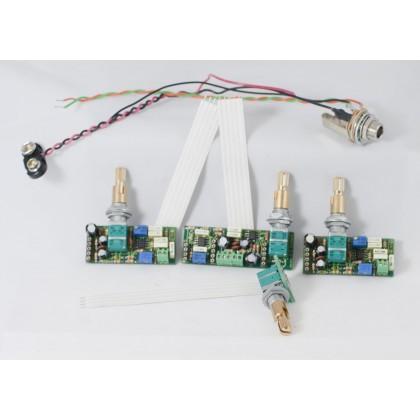 ACG EQ-01-4K Preamp, 2-Pickup, 4-Knob without knobs