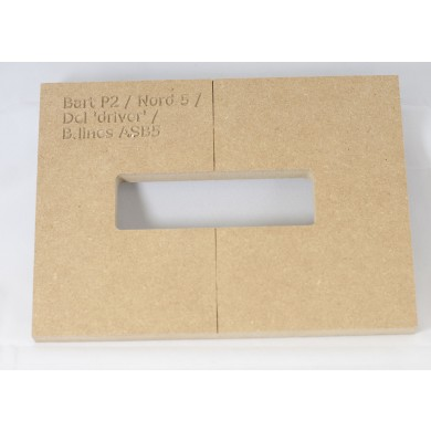 "Mike Plyler 1/2"" Thick MDF P2 Size Template"