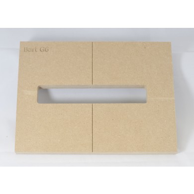 """Mike Plyler 1/2"""" Thick MDF G6 Size Template"""