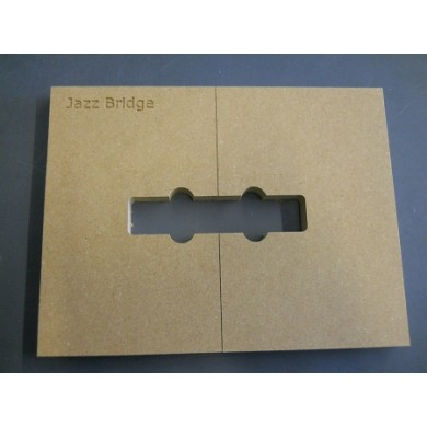 Mike Plyler Pickup Routing Template for Jazz Bridge