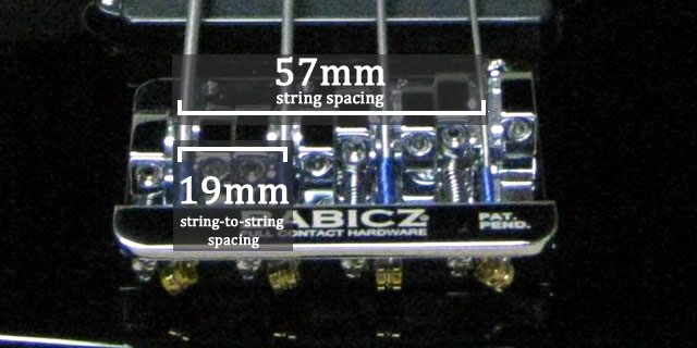 Measuring your bridge's string spacing