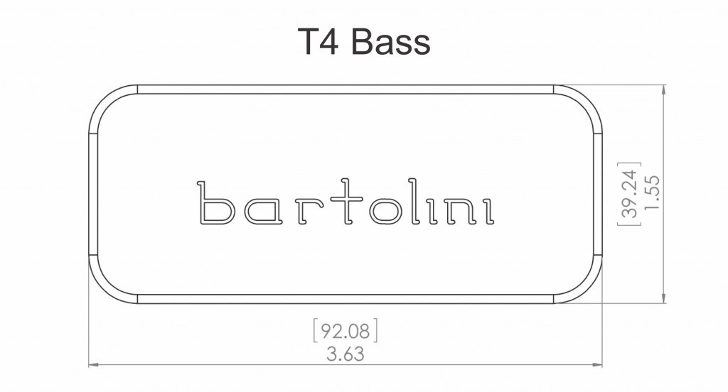 Bartolini T4cbc 4string Classic Bass Thunderbird Pickup