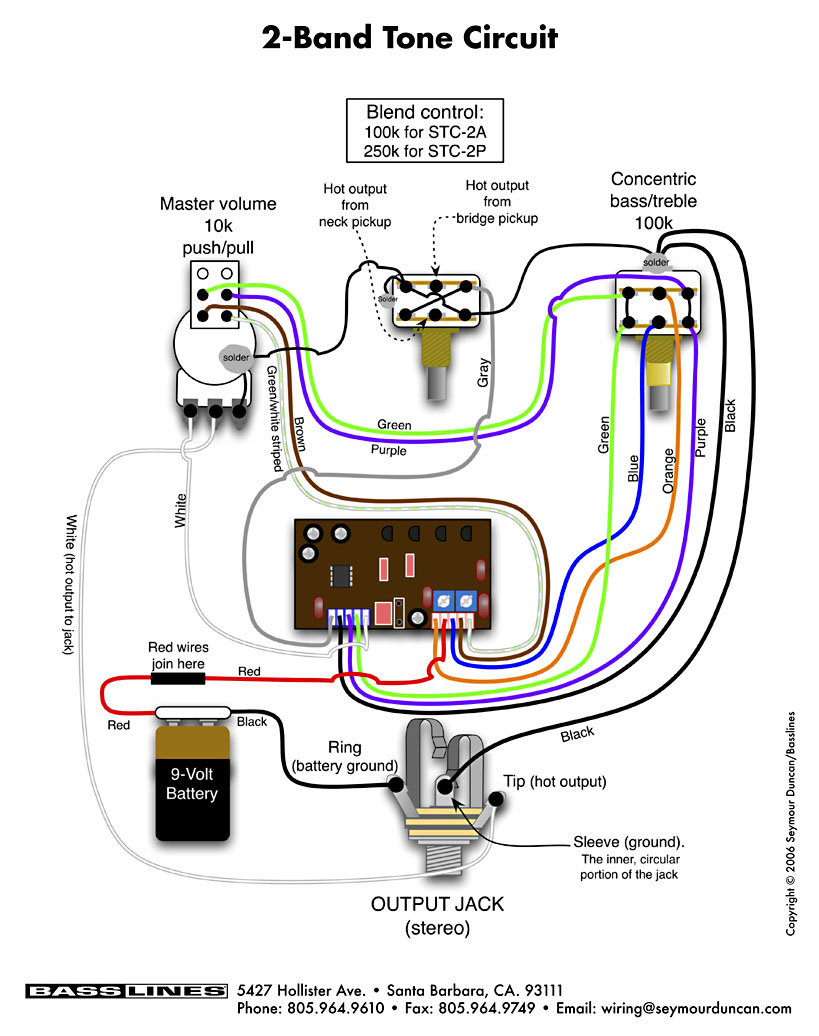seymour duncan stc-2asb - best bass gear seymour duncan wiring diagram active les paul seymour duncan wiring diagram